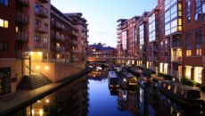 birmingham_canalside_apartments_at_dusk