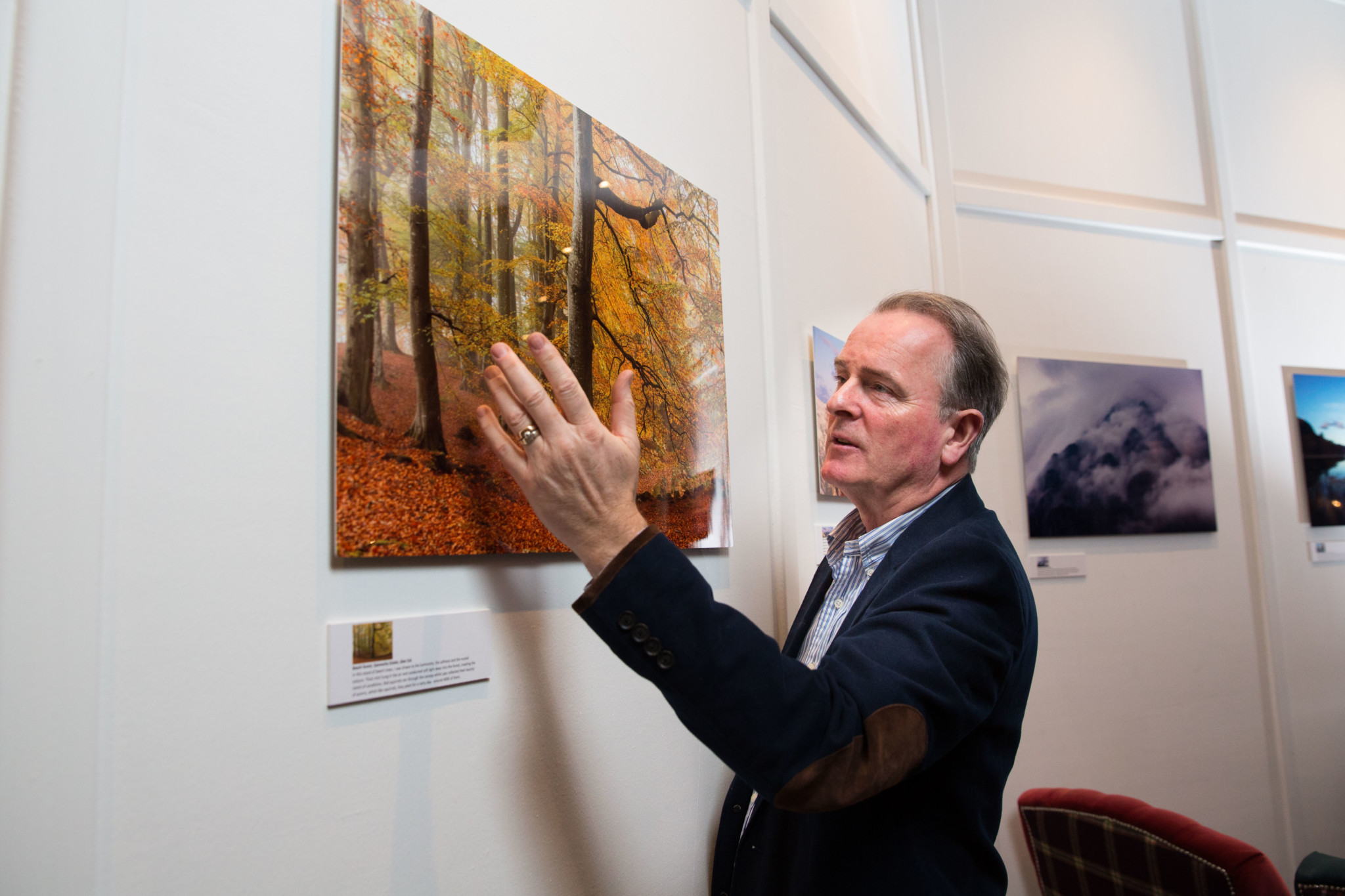 Colin Prior discusses Beech forest, Glen Esk at Cameron House