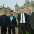 Left to Right Stoke Rochford Hall Owners Ravi Kathuria and Sanjay Kathuria with Stuart Welch (RBS Director Commercial Banking) and Ian Morgan (RBS Relationship Director)