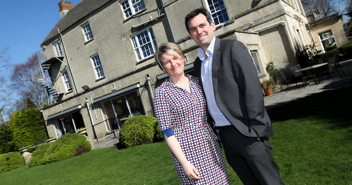 Sarah and Aidan Stevens owners of Stratton House Hotel
