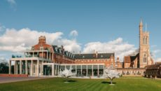 Stanbrook Abbey front Blossoms