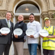 Scott Andrews, General Manager, Lympstone Manor; Richard Marsh, Director, Coastal Recycling; Michael Caines MBE, Chef Patron, Lympstone Manor and Mihaela Platoh_credit Andrew Butler.