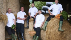 Farncombe Chef Team (left to right Matt Wheedon - Foxhill Manor, Jon Ingram - Exec Head Chef, Carl Holmes - The Fish, Sam Bowser - Dormy House, Martin Burge - Culinary Director)