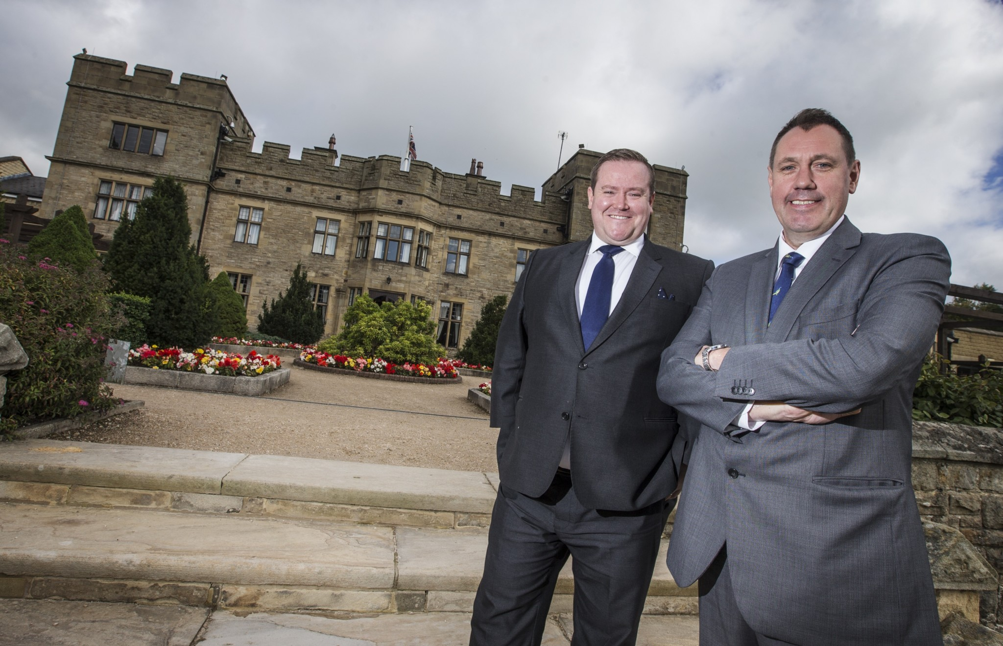 Slaley Hall hotel manager James O'Donnell and general manager Andrew Fox
