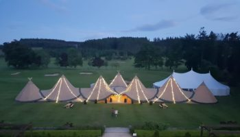 Tipi village at Slaley Hall
