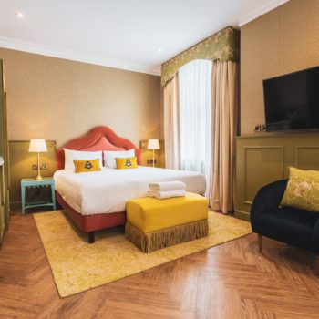 A new-look bedroom in York's Elmbank Hotel
