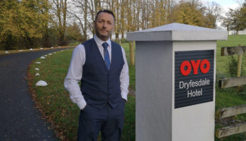 Owner and manager Glen Wright at OYO Dryfesdale Hotel