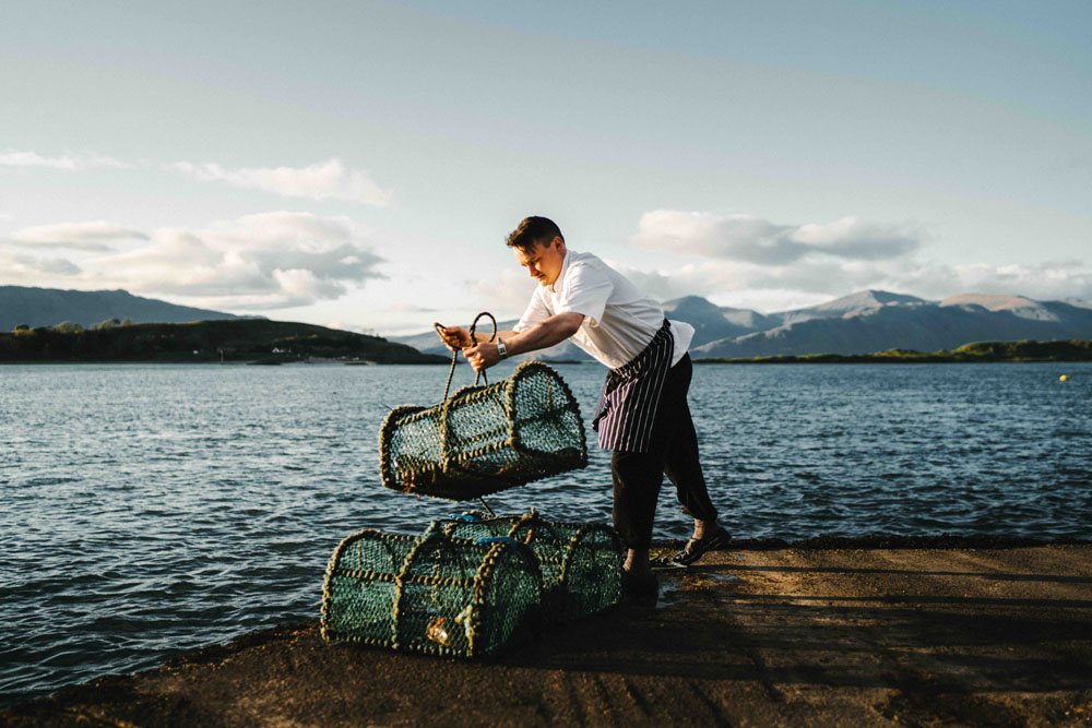 Michael Leathley, Head Chef at The Pierhouse. Photo by Jack Harding
